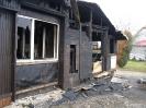 Vyhořelá chata k demolici