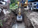 Demontáž stávajícího potrubí, obec Krokočín